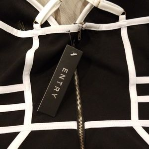 Forever 21 Dresses - Black and white cage dress